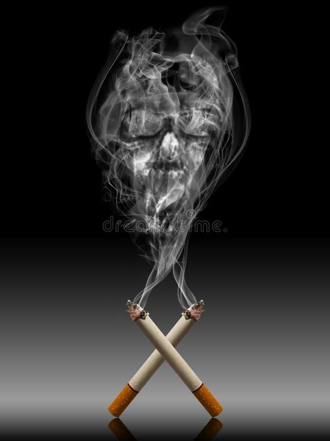Cigarrillo con humo mortal - Tabac mata estafa de la vida libre illustration