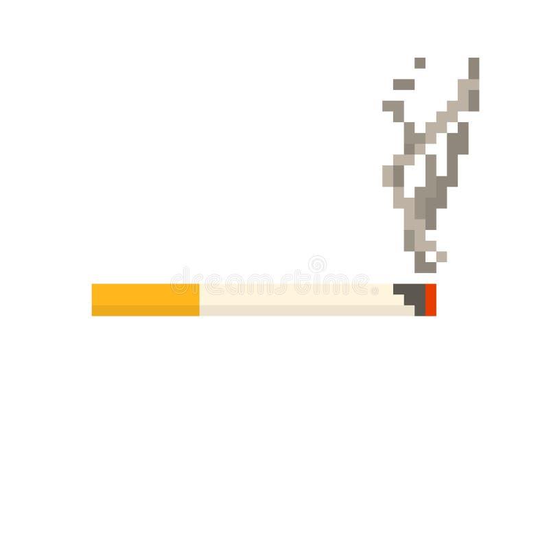 Cigarrillo del pixel imagenes de archivo