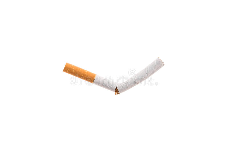 Cigarrillo quebrado imagenes de archivo