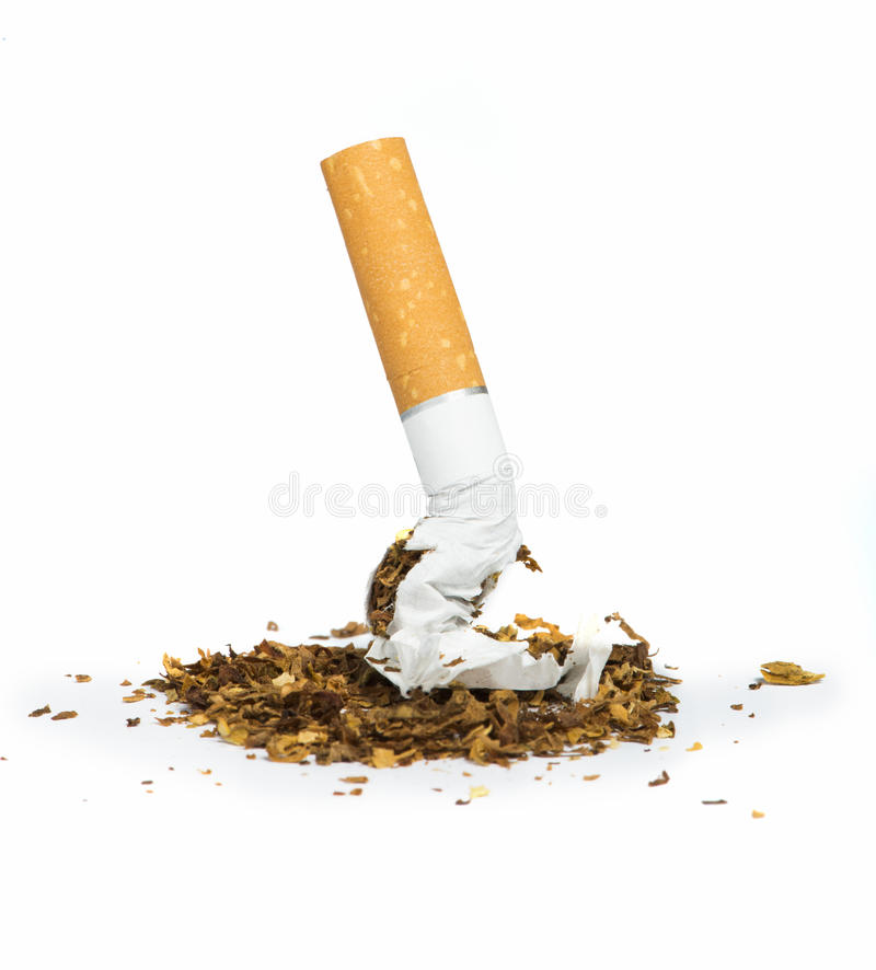 Cigarro amarrotado imagens de stock