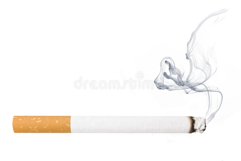 Cigarro com fumo foto de stock royalty free