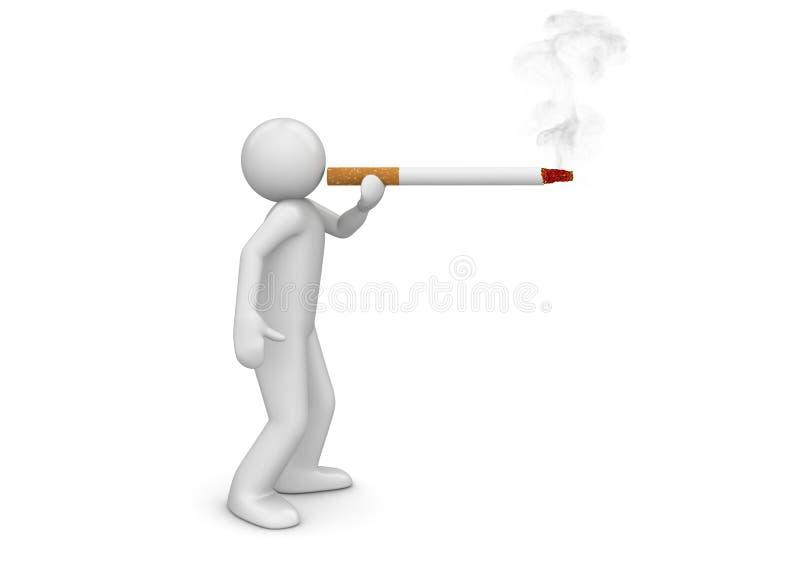 Cigarro de sopro do fumador - estilo de vida ilustração do vetor