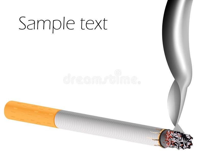Cigarro do filtro de encontro ao fundo branco ilustração royalty free