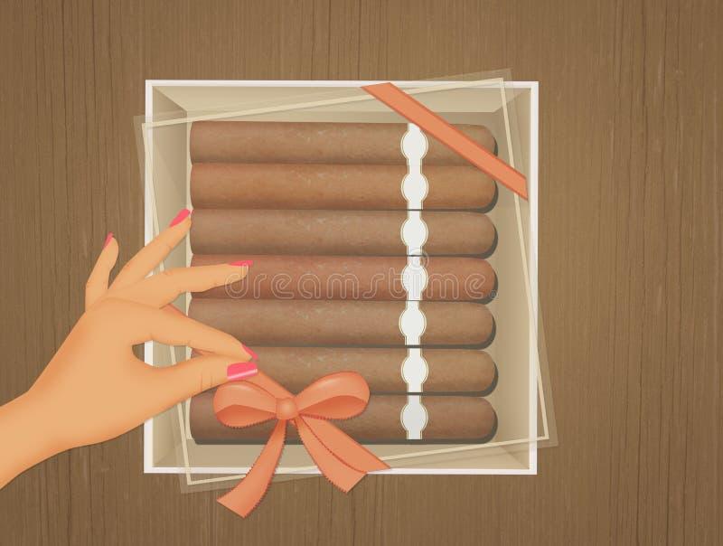 Cigarros en la caja libre illustration