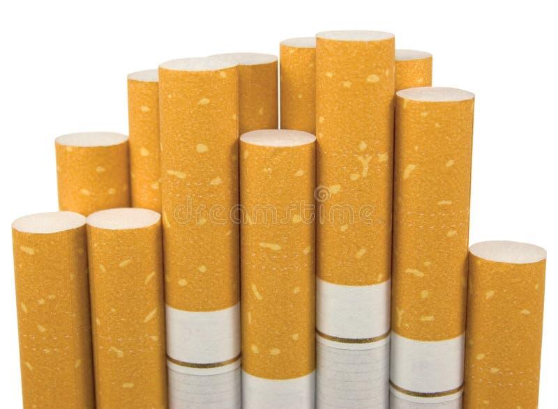 Cigarros macro isolados do filtro do close up fotografia de stock royalty free