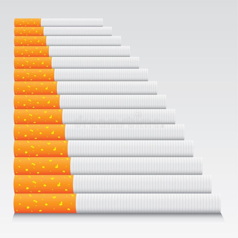 Cigarros na linha imagem de stock royalty free