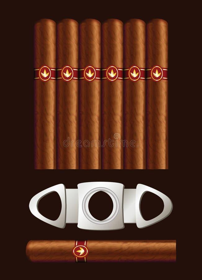 Cigarros y guillotina. libre illustration