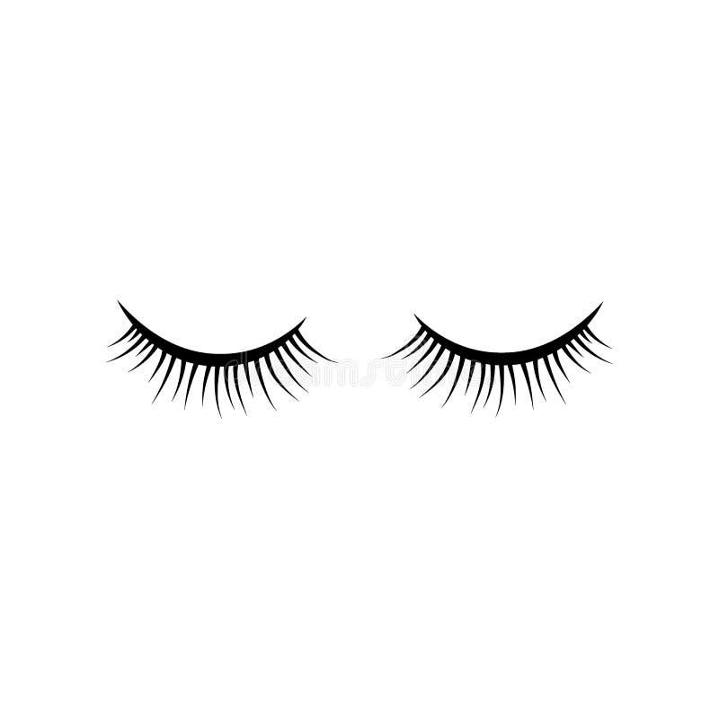 Cigli falsi neri Singolo elemento decorativo della mascara illustrazione di stock