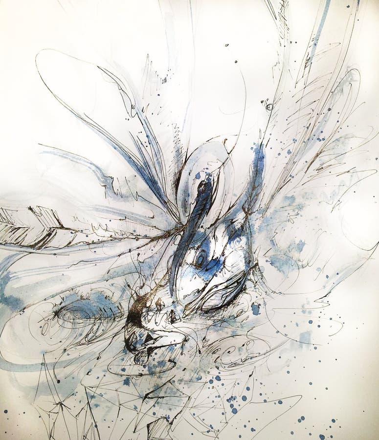 Cigno bianco krystal immagini stock