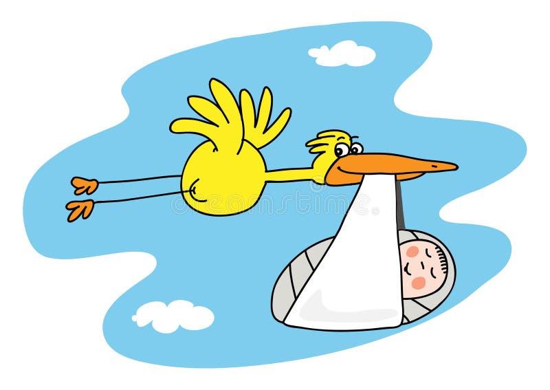 Cigogne illustration libre de droits