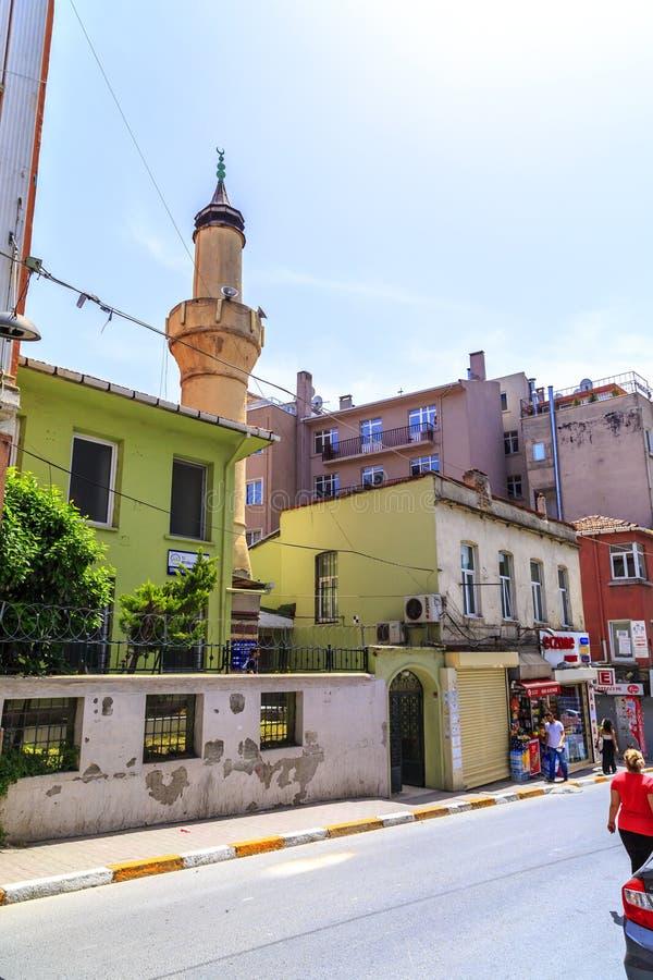 Cihangir district of Beyoglu, Istanbul. Istanbul, Turkey - May 13, 2017: Generic architecture in Cihangir, Beyoglu, Istanbul. Cihangir is a popular central stock image