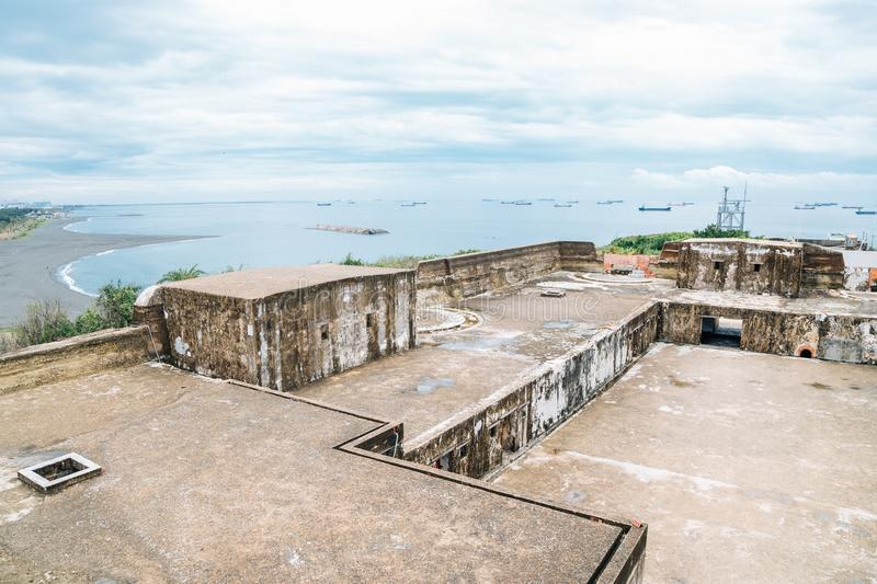 Cijin beach and Cihou Fort in Kaohsiung, Taiwan. Asia royalty free stock photography