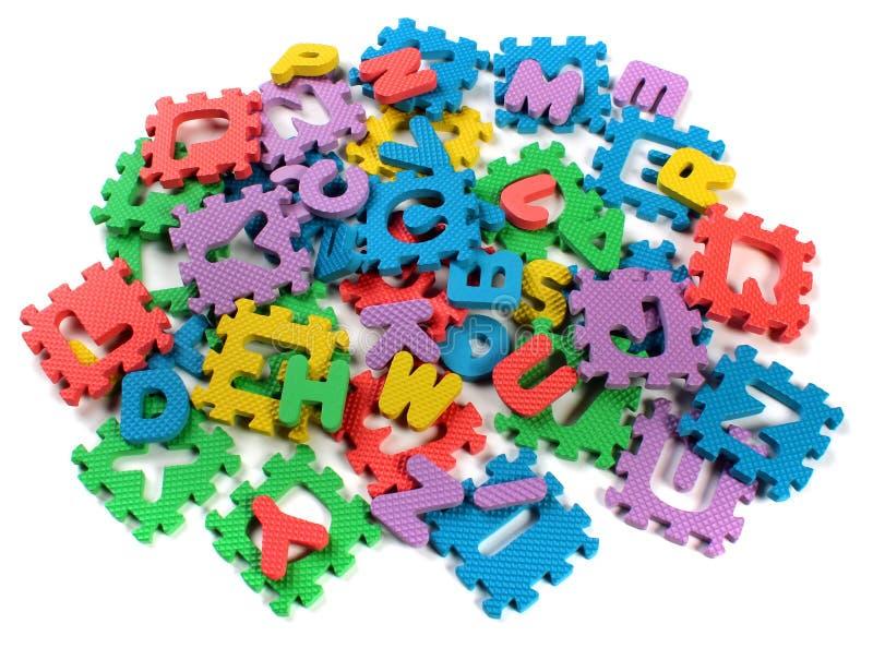 Ciie out listy zabawkarska plastikowa abecadło łamigłówka fotografia stock