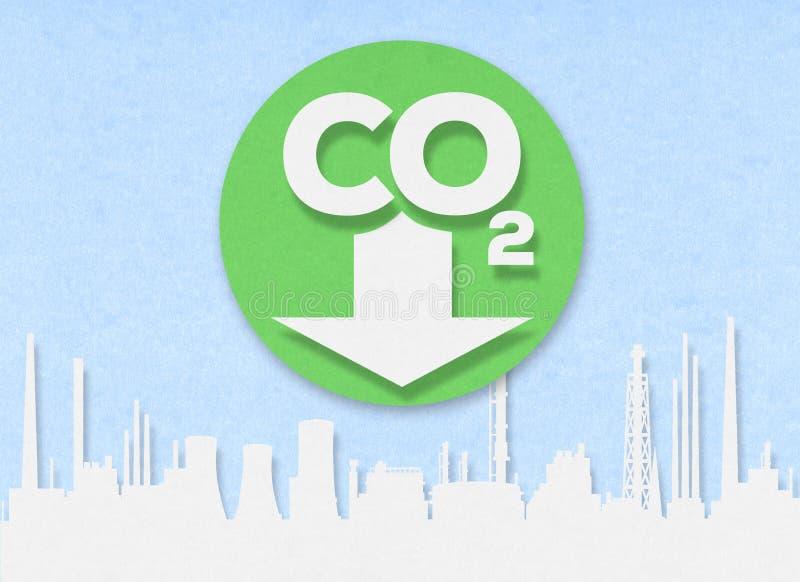 Ciie za niskiej emisji miasta strefie na kartonie zdjęcie stock