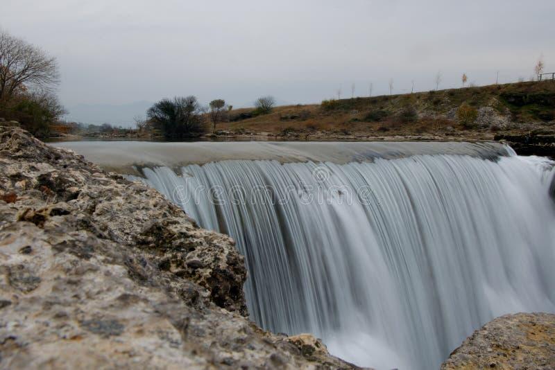 Cijevna spada blisko Podgorica Montenegro zdjęcie royalty free