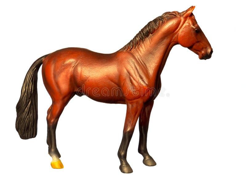 Cijfer van een paard Geïsoleerd op wit stock illustratie