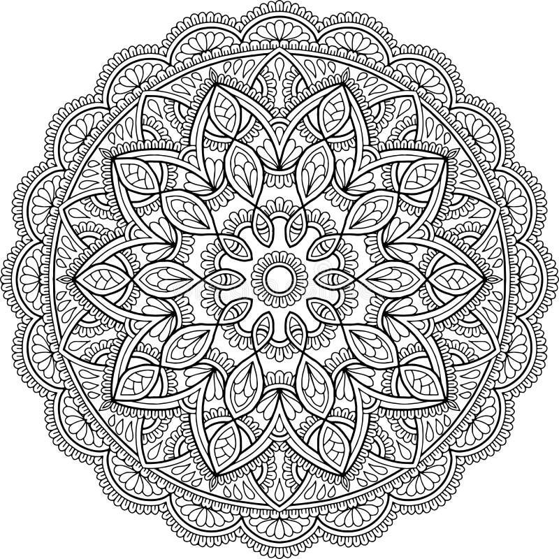Download Cijfermandala Voor Het Kleuren Stock Illustratie - Illustratie bestaande uit hand, doodles: 114226859
