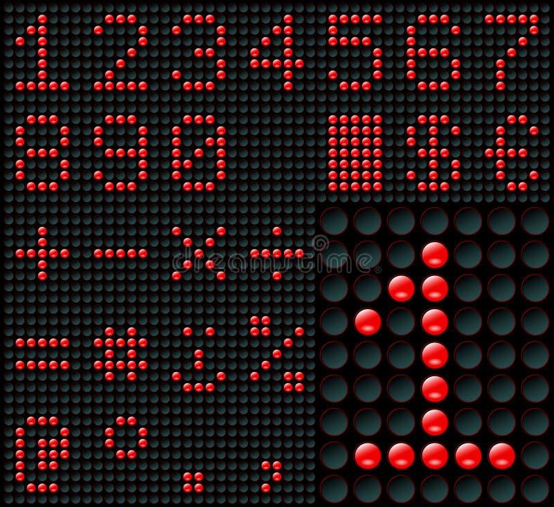 Cijfers en Symbolen vector illustratie
