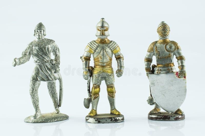 Cijfers van middeleeuwse ridders royalty-vrije stock foto's