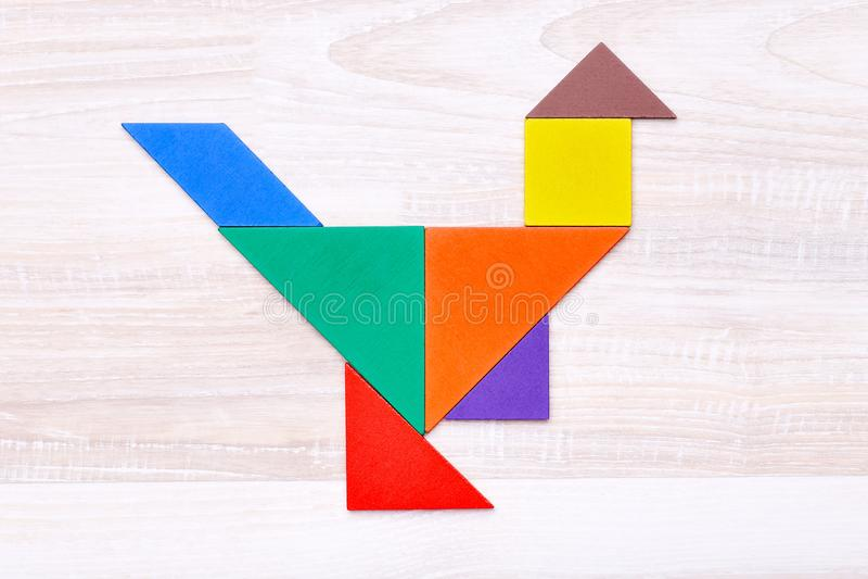Cijfers in vorm van kip royalty-vrije stock afbeelding