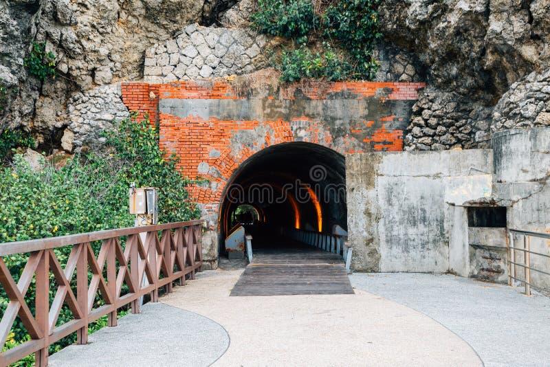 Cijin-Tunnel in Cijin-Insel, Kaohsiung, Taiwan stockfotos