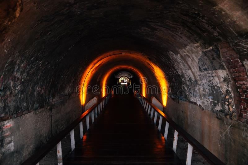 Cijintunnel in Cijin-eiland, Kaohsiung, Taiwan royalty-vrije stock foto's