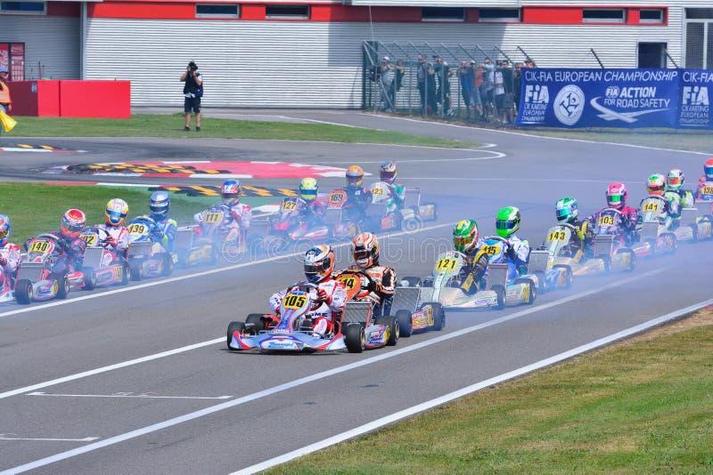 Cik-FIA ευρωπαϊκό πρωτάθλημα Karting στοκ φωτογραφίες
