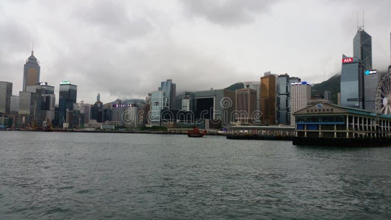 Cilence του Χογκ Κογκ πριν από το tyfoon στοκ εικόνες