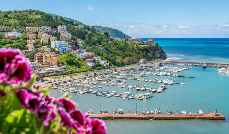 Scenic view in Agropoli with the sea in the background. Cilento, Campania, southern Italy. Cilento is an Italian geographical region of Campania in the central royalty free stock photo