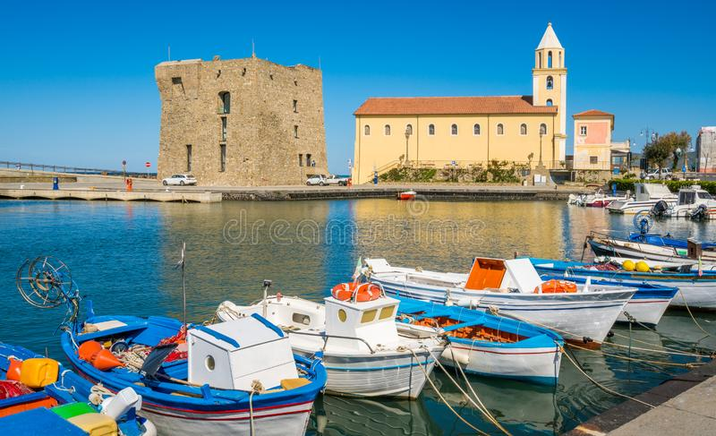 Scenic morning view in Acciaroli harbour. Cilento, Campania, southern Italy. Cilento is an Italian geographical region of Campania in the central and southern stock photography