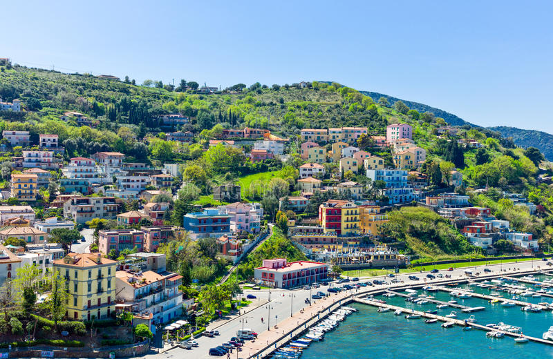 Cilento. Italy,Cilento, Agropoli, view on the harbour royalty free stock photography