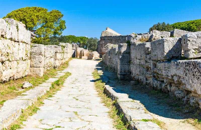 Cilento. Italy,Cilento, archaeological site of Paestum stock photo