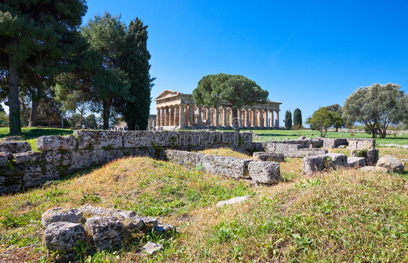Cilento. Italy,Cilento, archaeological site of Paestum royalty free stock images