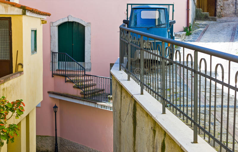 Cilento. Italy,Cilento, the old country center of Corletto Monforte stock image