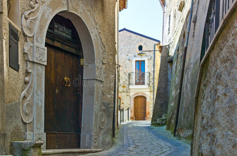 Cilento. Italy,Cilento, the old country center of Corletto Monforte royalty free stock photos