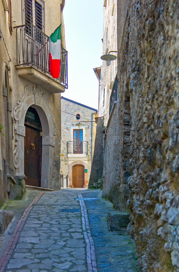 Cilento. Italy,Cilento, the old country center of Corletto Monforte royalty free stock photo