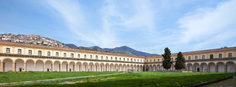 Cilento. Italy,Cilento, Padula, the Certosa of San Lorenzo, the great cloister stock photo