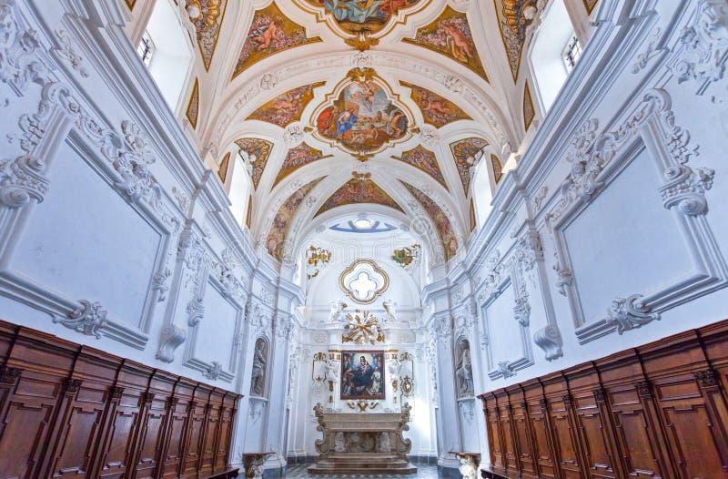 Cilento. Italy,Cilento, Padula, the church of the Certosa of San Lorenzo stock image