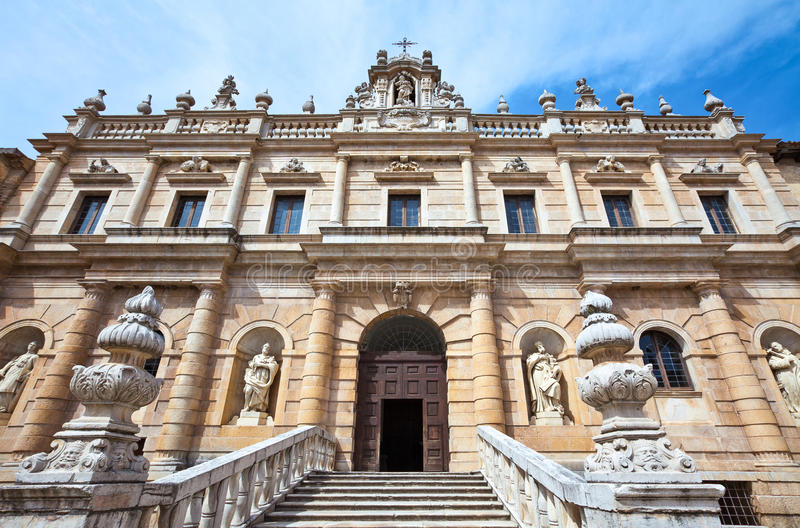 Cilento. Italy,Cilento, Padula, the front entrance in Baroque stile of the Certosa of San Lorenzo stock photo