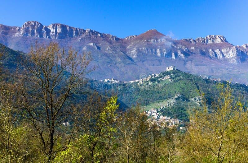 Cilento. Italy,Cilento, paesaggio dei monti Aburni nei pressi di Sicignano royalty free stock photos