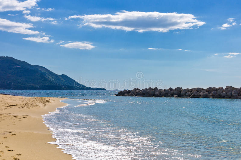 Cilento. Italy,Cilento, Santa Maria di Castellabate, the beach royalty free stock photography