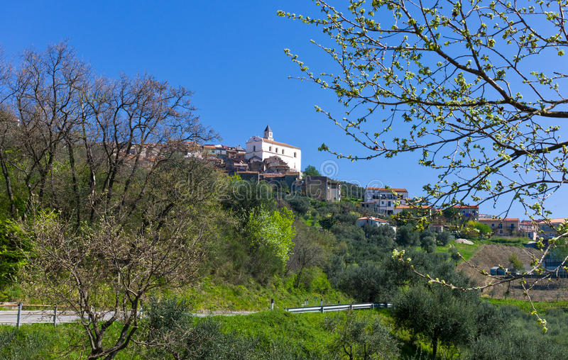 Cilento. Italy,Cilento, view from the road of Bellosguardo country royalty free stock images