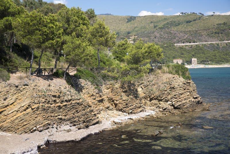 Cilento National Park. Ogliastro Marina bay stock image