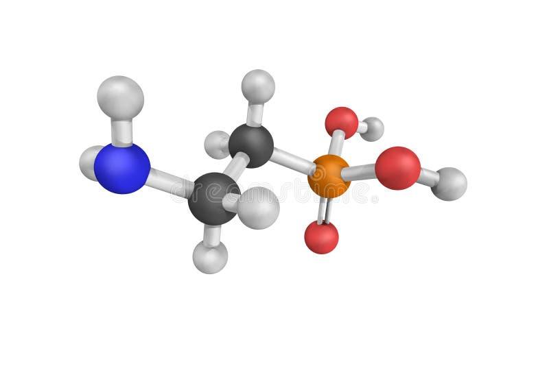 Ciliatine, ook als aminoethylphosphonic zuur dat 2 wordt bekend 3d model stock afbeelding