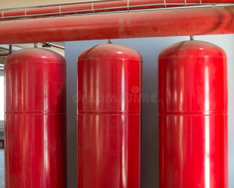 Cilinders van industrieel dovend systeem royalty-vrije stock foto's