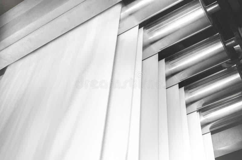 Cilindri d'acciaio di stampa offset fotografia stock libera da diritti
