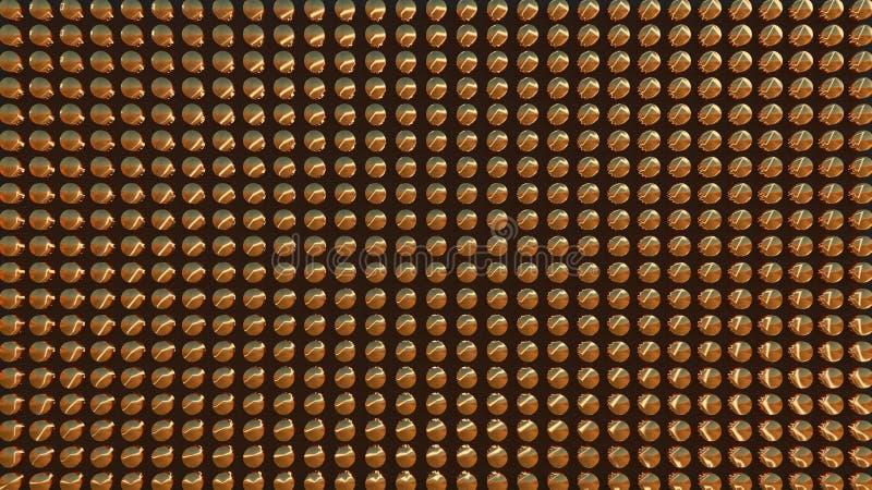 Cilindri dell'oro su un fondo scuro Modello, file 3d rendono royalty illustrazione gratis