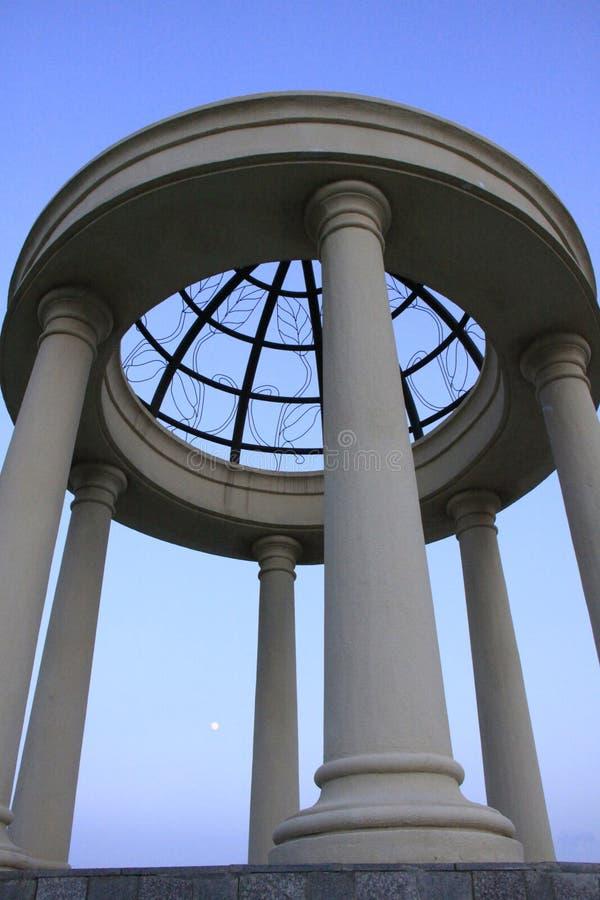Cilindrisch paviljoen stock fotografie