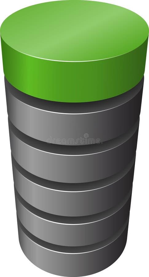 Cilindro acodado. stock de ilustración