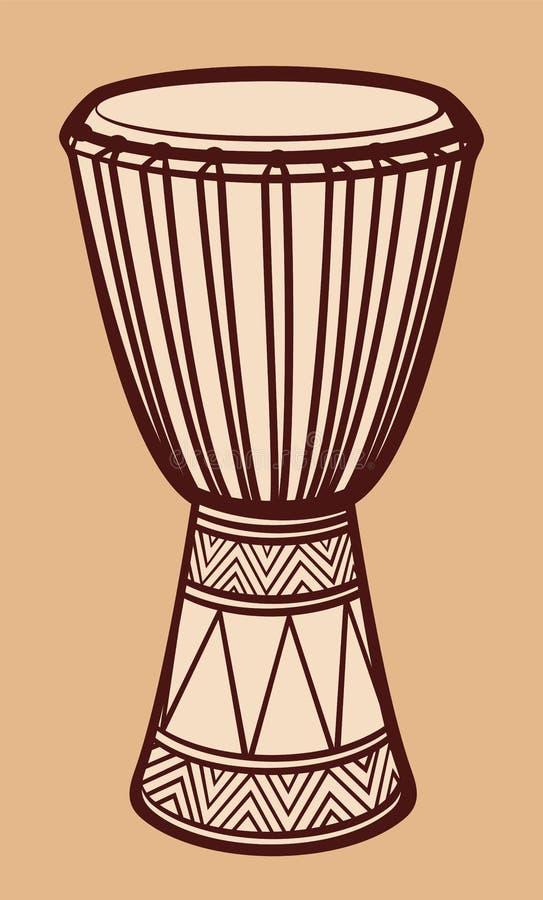 Cilindro africano ilustração stock